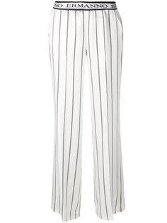 полосатые брюки прямого кроя  Ermanno Ermanno