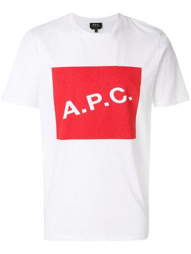футболка с принтом-логотипом A.P.C.