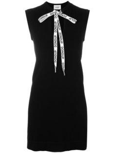 приталенное платье с завязкой на шее Dondup