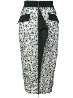 юбка-карандаш на молнии с цветочным узором Maticevski