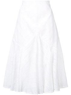 юбка А-образного силуэта с ажурной отделкой Acler