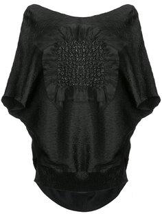 блузка с жатым эффектом и металлизированной отделкой Maticevski