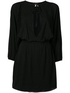 платье мини с вырезом капелькой  Saint Laurent