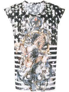 футболка с флагом США Balmain