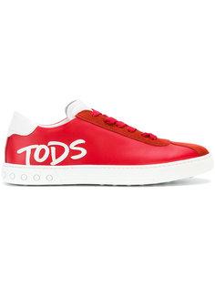 кеды со шнуровкой и аппликацией  Tods Tod`S