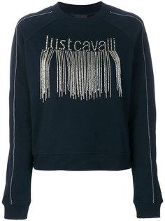 толстовка с декорированным логотипом Just Cavalli