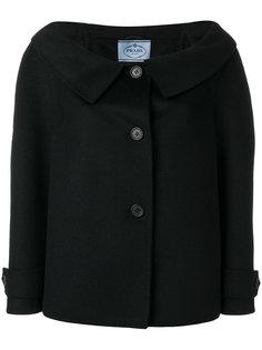 пиджак с открытыми плечами  Prada