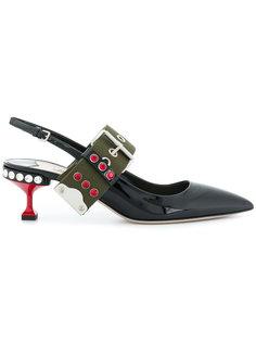 туфли с заостренным носком Miu Miu
