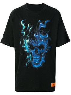 flaming skull T-shirt Heron Preston