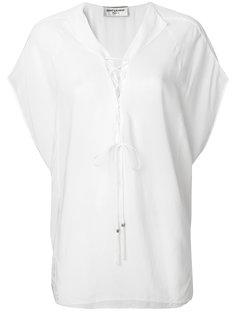 блузка со шнуровкой  Saint Laurent