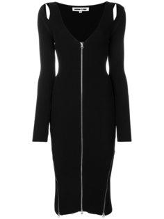 платье на молнии с V-образным вырезом  McQ Alexander McQueen