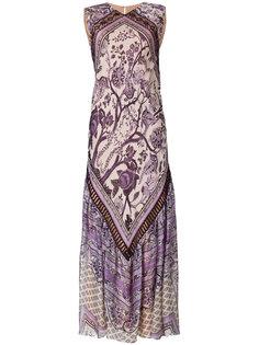 длинное платье  с орнаментом Alberta Ferretti
