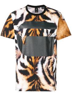 футболка с тигриным принтом G-Star