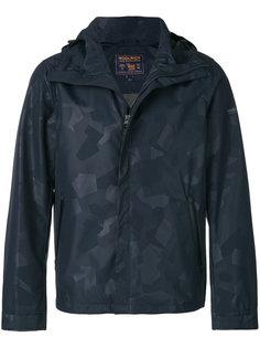 укороченное пальто с капюшоном Woolrich