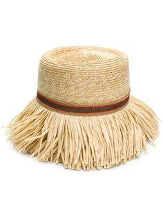плетеная шляпа с бахромой Ermanno Scervino