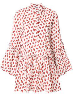 платье-рубашка с принтом губ P.A.R.O.S.H.