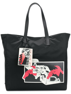 сумка на плечо с графическим принтом Prada