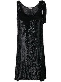расклешенное платье  с рюшами P.A.R.O.S.H.