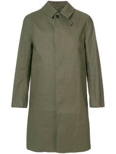 прямое пальто на пуговицах Mackintosh