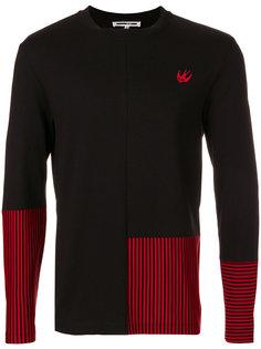 свитер с панелями в полоску McQ Alexander McQueen