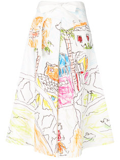 юбка с принтом  Marni