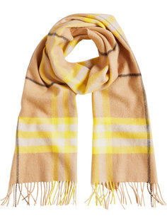 классический шарф с узором в клетку Burberry