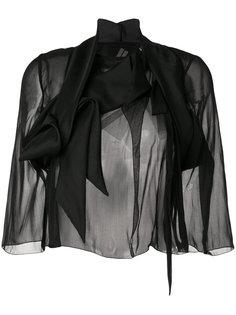пиджак комбинированного кроя Wishbone Rick Owens