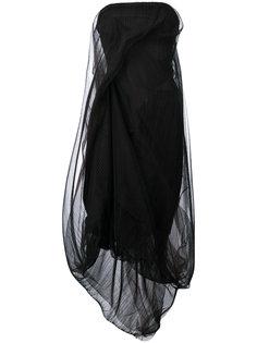 платье без бретелек из тюля Rick Owens