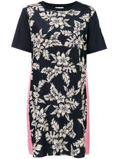 платье шифт с цветочным принтом Moncler
