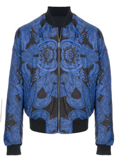 куртка-бомбер с орнаментом Versace