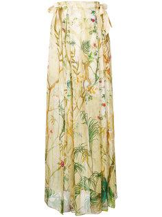 юбка макси с цветочным принтом Alberta Ferretti