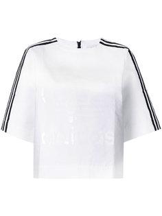 топ с полосатой отделкой Adidas