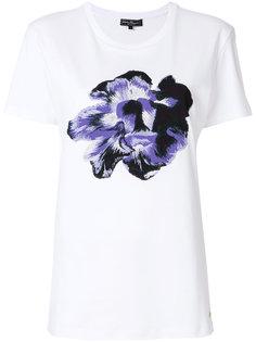 футболка с принтом цветка Salvatore Ferragamo