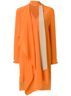 расклешенное платье с оборками Fendi