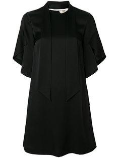 расклешенное платье с завязками Fendi
