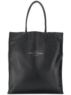 сумка-тоут с принтом логотипа Smythson