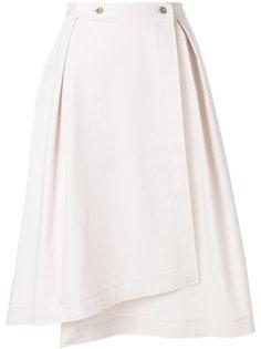 юбка S-образного силуэта  Jil Sander Navy