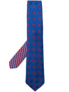 галстук с вышивкой пейсли  Etro