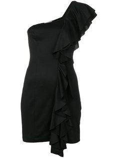 платье мини с оборкой  Dondup