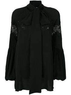блузка с завязкой на вороте  Givenchy