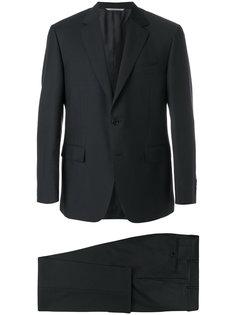 костюм узкого кроя с однобортным пиджаком Canali