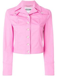 джинсовая куртка Betty Boop с вышивкой Moschino