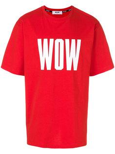 футболка Wow MSGM