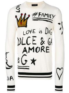 джемпер с принтом логотипа Dolce & Gabbana