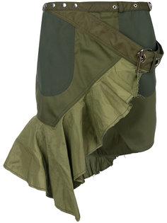 асимметричная юбка мини с запахом Marquesalmeida