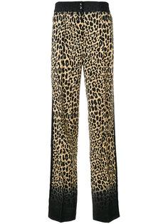 брюки с леопардовым принтом Etro