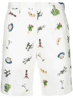 шорты с принтом Fendi