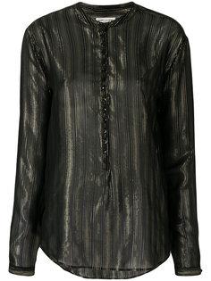 полупрозрачная блузка в полоску  Saint Laurent