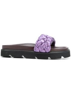 woven slider sandals Mulberry