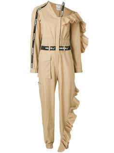 frill trim jumpsuit Seen